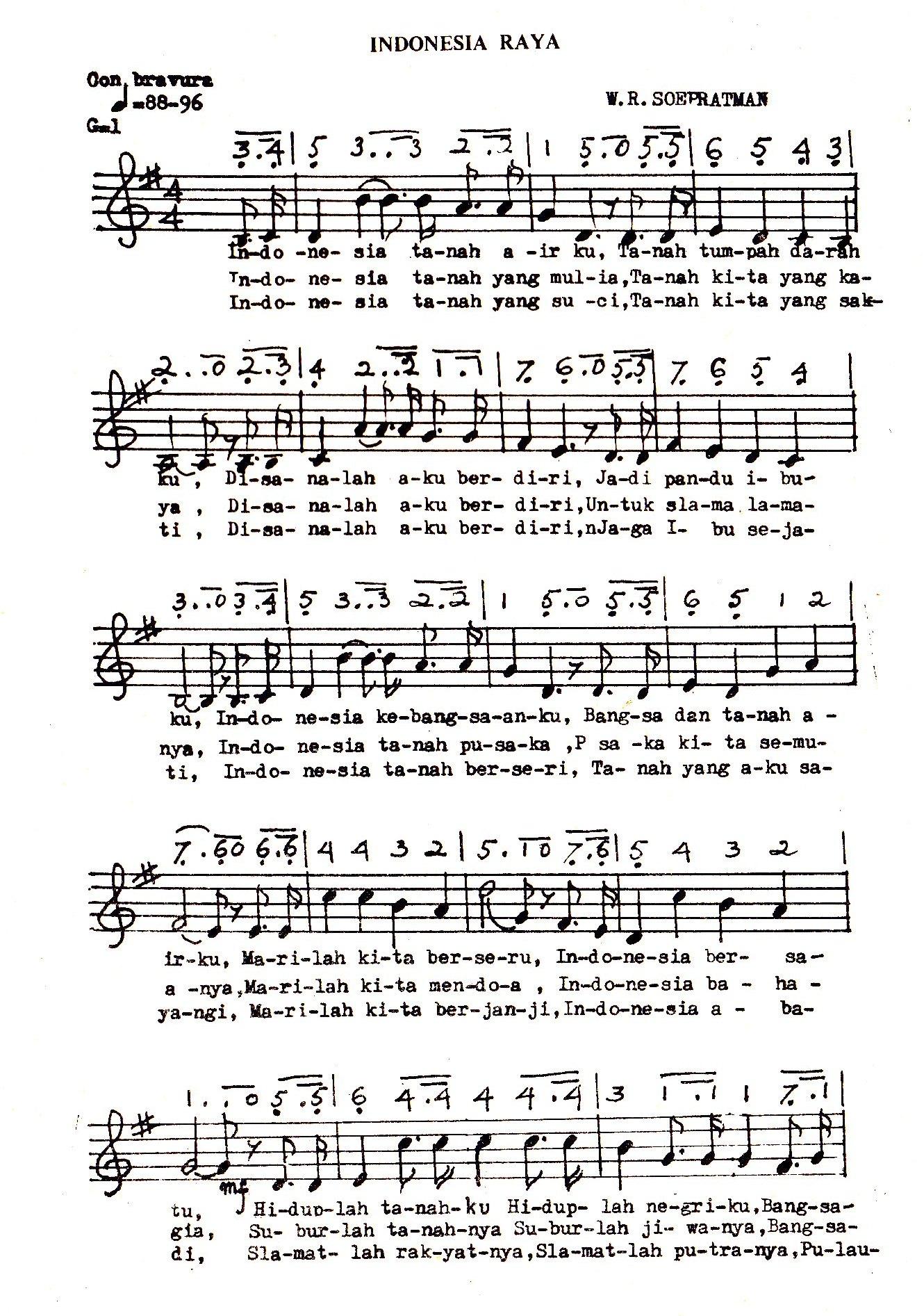 Sejarah Lagu Indonesia Raya Catatanwongndeso